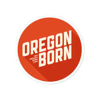 Oregon Born 2020 Logo - Bubble-Free Stickers - Oregon Born