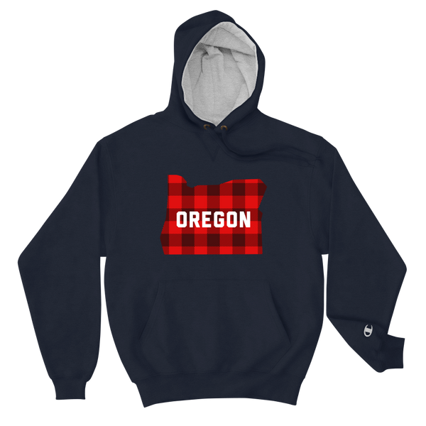 "Oregon ""Buffalo Plaid"" - Champion Hoodie"
