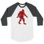 "Bigfoot ""Buffalo Plaid"" - 3/4 Sleeve Raglan Shirt - Oregon Born"