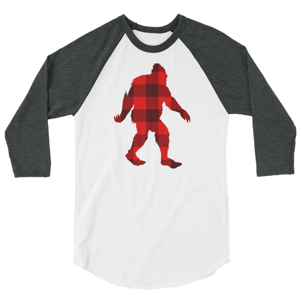 "Bigfoot ""Buffalo Plaid"" - 3/4 Sleeve Raglan Shirt"