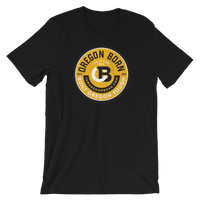 "Oregon Born ""Tough"" in Yellow - Short-Sleeve Unisex T-Shirt - Oregon Born"