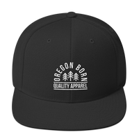 "Oregon Born ""Quality Apparel 2"" in White - Snapback Hat - Oregon Born"