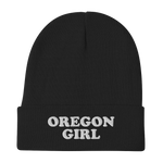 """Oregon Girl"" - Embroidered Beanie - Oregon Born"