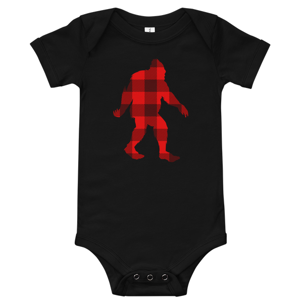 "Bigfoot ""Buffalo Plaid"" - Onesie - Oregon Born"