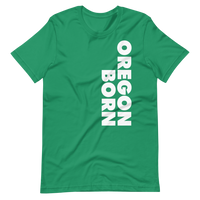 SIMPLY OREGON BORN - SIDE - Short-Sleeve Unisex T-Shirt