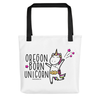 """Oregon Born Unicorn"" - Tote bag - Oregon Born"