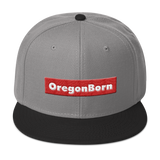 Oregon Born Red Box - Snapback Hat - Oregon Born