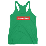 Oregon Born - Red Box - Ladies' Triblend Racerback Tank - Oregon Born