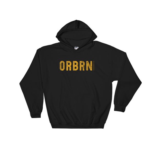 "Oregon Born ""ORBRN"" in Yellow - Hooded Sweatshirt"