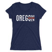 "Oregon Born ""Inset"" - Ladies' Short Sleeve Tee - Oregon Born"