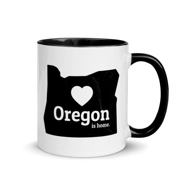 OREGON IS HOME - Mug with Color Inside