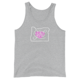 Oregon Born Girl (Pink Heart) - Unisex Tank Top - Oregon Born