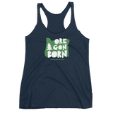 "Oregon Born ""Handcrafted"" in Green - Women's Racerback Tank - Oregon Born"