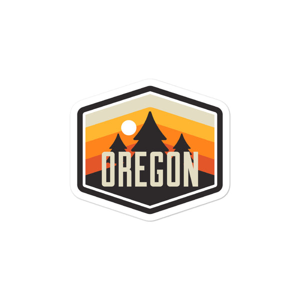Oregon - Vintage - Bubble-Free Stickers - Oregon Born