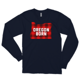 "Oregon Born ""Buffalo Plaid"" - Long Sleeve T-Shirt - Oregon Born"