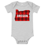 "Oregon ""Buffalo Plaid"" - Onesie - Oregon Born"