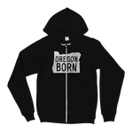 Our Original 'Oregon Born' Logo - Hoodie - Oregon Born