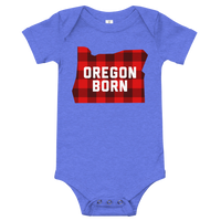 "Oregon Born ""Buffalo Plaid"" - Onesie - Oregon Born"