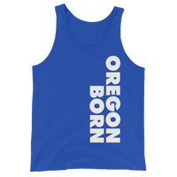 SIMPLY OREGON BORN - SIDE - Unisex Tank Top