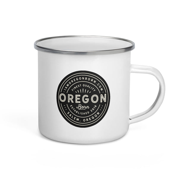 FINEST QUALITY (BLACK) - Enamel Mug - Oregon Born
