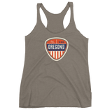 "Oregon Born ""Vintage Shield"" - Women's Racerback Tank - Oregon Born"