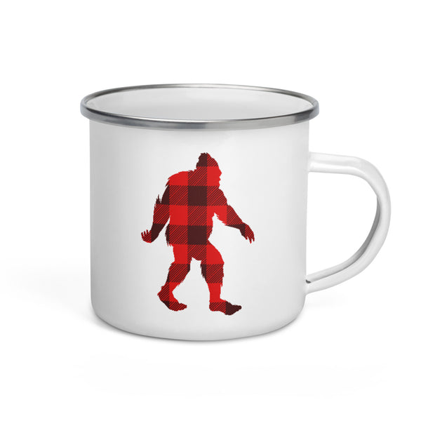"Bigfoot ""Buffalo Plaid"" - Enamel Mug"
