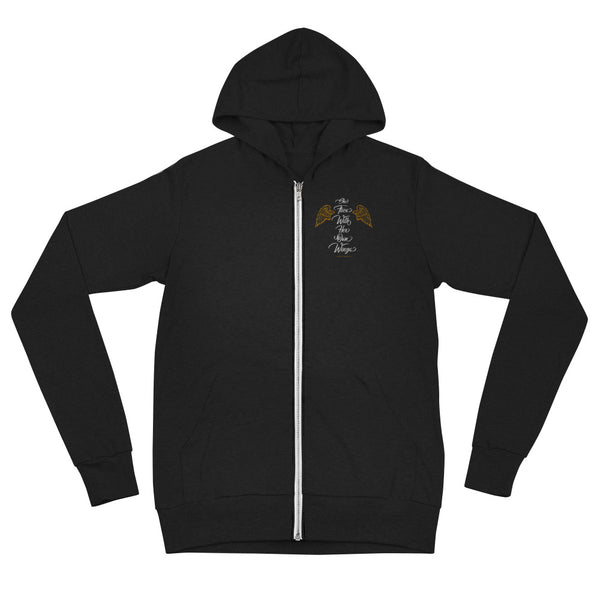"""She Flies With Her Own Wings"" - Lightweight Zip Hoodie - Unisex - Oregon Born"