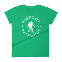 """Bigfoot Is My Patronus"" - Women's Short Sleeve Tee - Oregon Born"