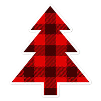 "Douglas Fir ""Buffalo Plaid"" - Bubble-Free Stickers - Oregon Born"