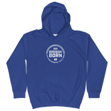 'Oregon Born' Round Logo in White - Kids Hoodie - Oregon Born