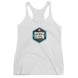 Oregon Born - Shield - Ladies' Triblend Racerback Tank - Oregon Born