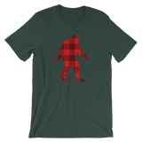 "Bigfoot ""Buffalo Plaid"" - Short-Sleeve Unisex T-Shirt - Oregon Born"