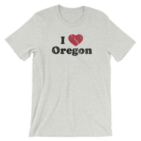 """I Heart Oregon"" - Unisex Tee - Oregon Born"