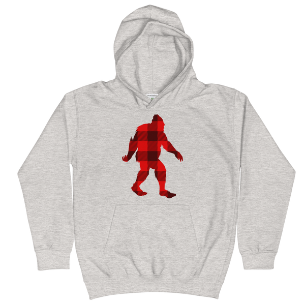 "Bigfoot ""Buffalo Plaid"" -  Kids Hoodie - Oregon Born"