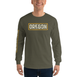 Oregon Born in Gold - Long Sleeve Tee - Oregon Born