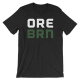 "Oregon Born - ""ORE BRN"" - Unisex TEE (White & Green) - Oregon Born"