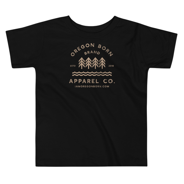 Oregon Born Brand Apparel Co. - Toddler Short Sleeve Tee - Oregon Born