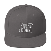 Our Original Oregon Born Logo in Outline - Snapback Hat - Oregon Born