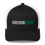 Oregon Born - (Two Color Inline) - Trucker Cap - Oregon Born