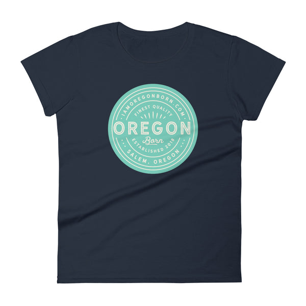 FINEST QUALITY (SEAFOAM) - Women's Short Sleeve T-Shirt - Oregon Born