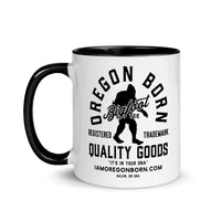 OREGON BORN BIGFOOT TEE - Mug with Color Inside