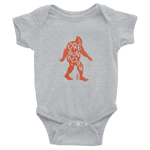 "Oregon Born -""Bigfoot"" in Orange - Infant Bodysuit - Oregon Born"