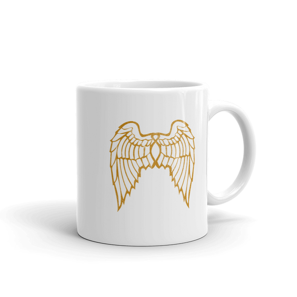 """She Flies"" State Motto with Wings - Mug - Oregon Born"