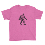 'Oregon Born Bigfoot' in Black - Unisex Youth Tee - Oregon Born