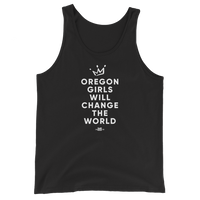 """Oregon Girls Will Change The World"" 2019 - Unisex  Tank Top - Oregon Born"