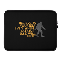 """Believe in Yourself"" (Gray & Gold)  - Laptop Sleeve - Oregon Born"