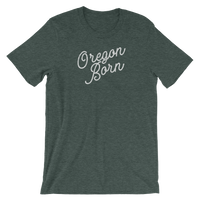 Oregon Born 'Slant Script' - Unisex Tee - Oregon Born