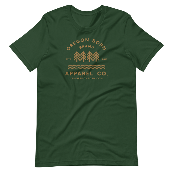 Oregon Born Brand Apparel Co. - GOLD STANDARD - Short-Sleeve Unisex T-Shirt
