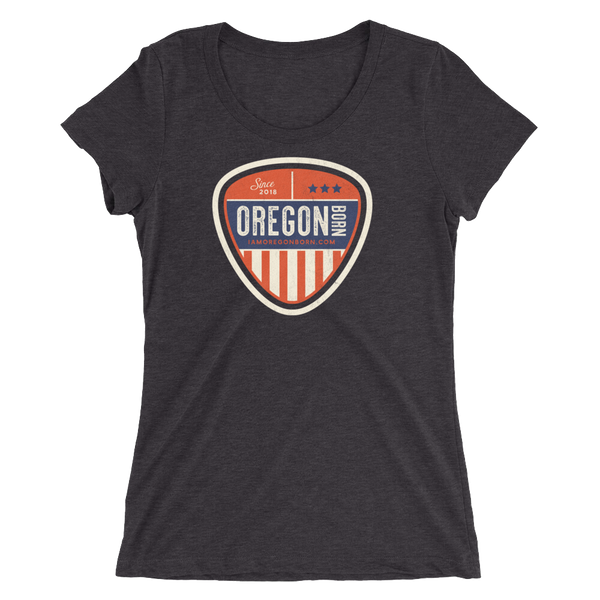 "Oregon Born ""Vintage Shield"" - Ladies' Short Sleeve Tee"