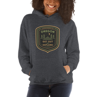 "Oregon Born - ""Get Out and Explore 2"" - Unisex Hoodie - Oregon Born"